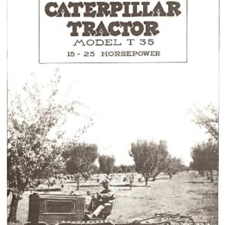 2Ton Caterpillar Tractor Book