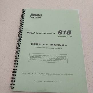 FIAT 615 wheel tractor model service manual diamond line. Supplement to the manual 603.54.025