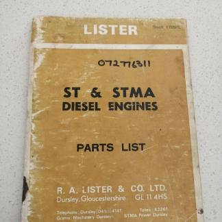 Lister ST & STMA Diesel Engines Parts List