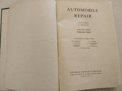 Automobile Repair Volume 3 Commercial Vehicles George Newnes