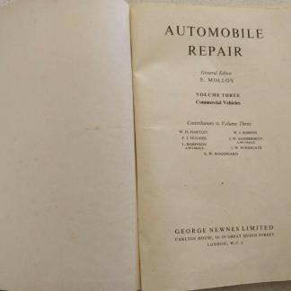 Automobile Repair Volume 3 Commercial Vehicles George Newnes