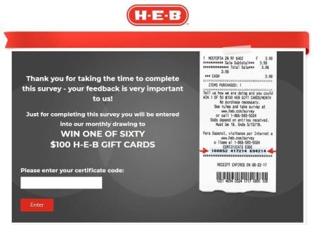 H-E-B Customer Satisfaction Survey