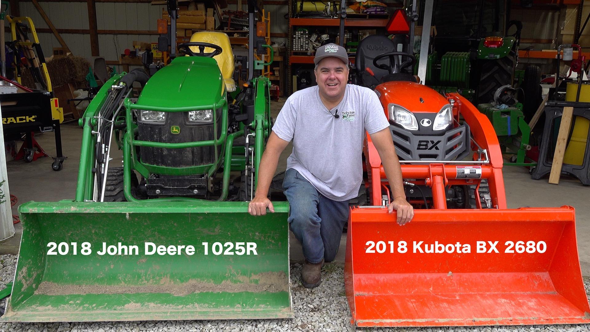 Kubota BX vs  Deere 1025R - Round #1 - 3 Point Hitch