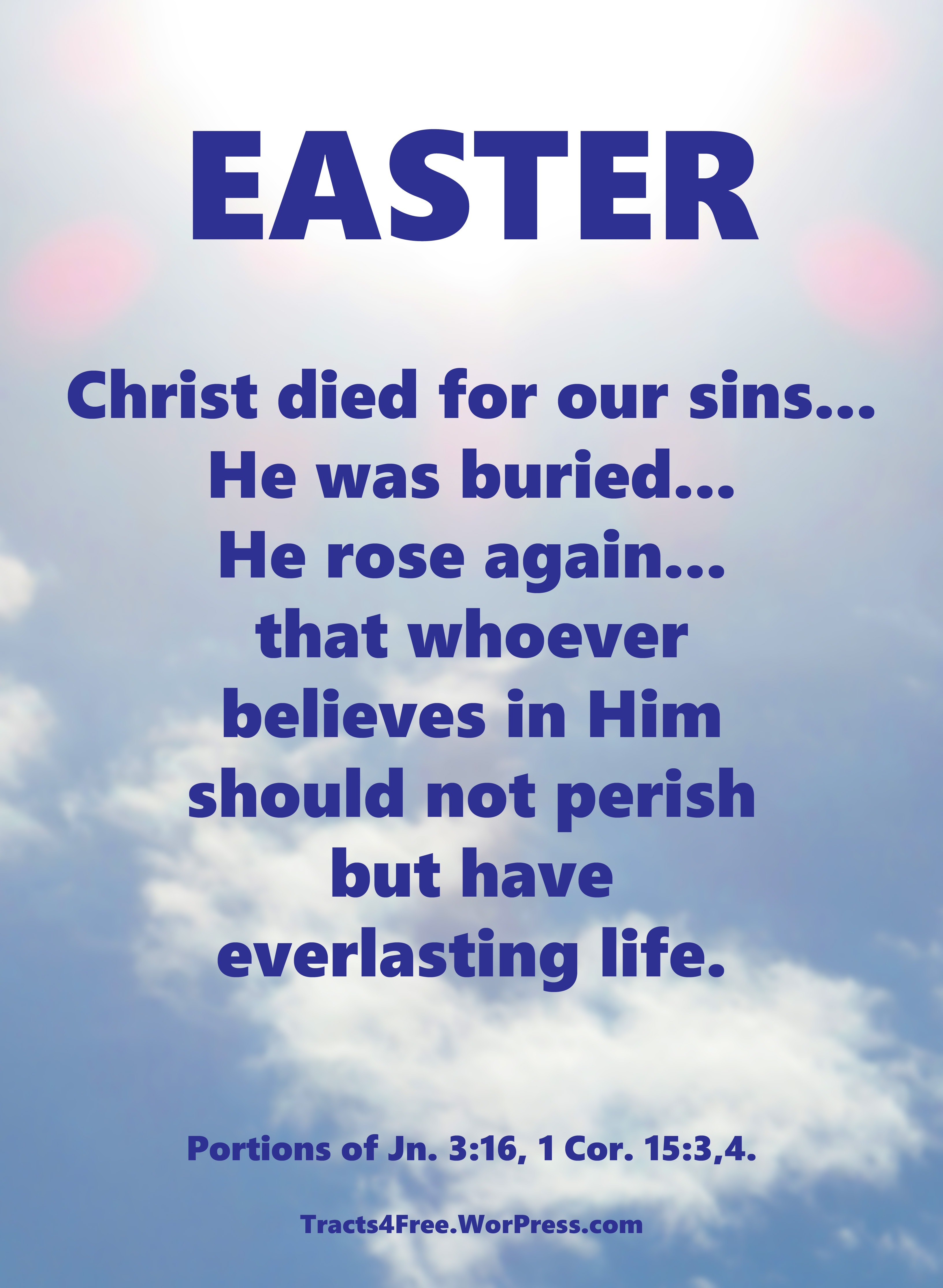 Easter Posters Tracts4free