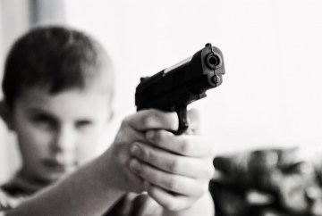 Child with gun