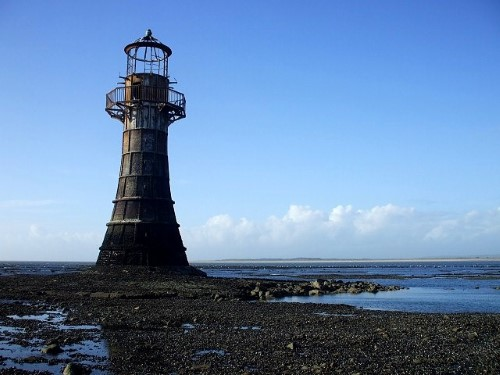 Whiteford Point Lighthouse is accessible only at low tide (be careful!)