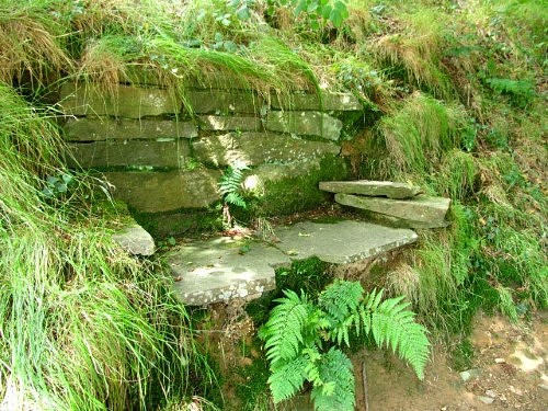 It would be easy to miss this beautiful stone seat on Mynydd Machen