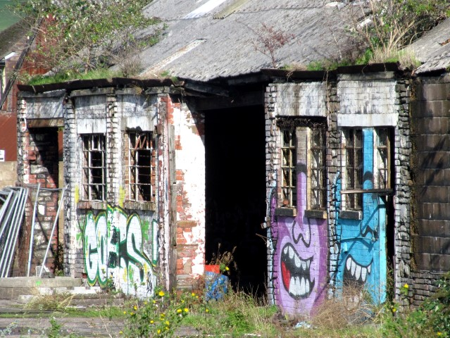 There's even colour to be found on dilapidated buildings