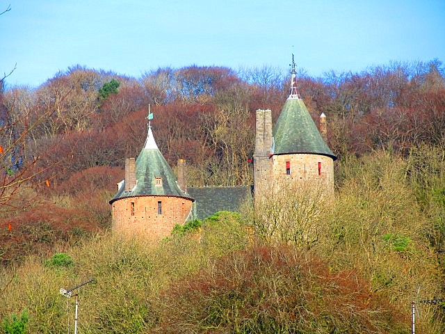 The turrets of Castell Coch are visible for miles around