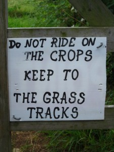 Anyone fancy a bit of crop riding?