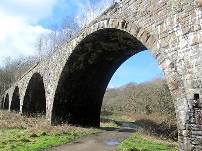 The impressive but now redundant Machen viaduct