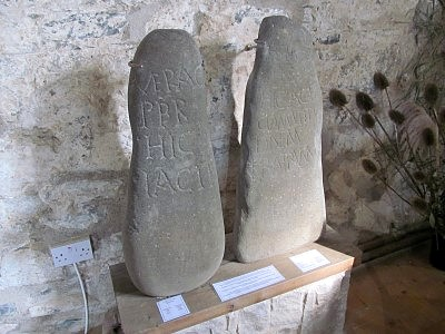 Tombstones of two Christian priests of the late 5th or early 6th century