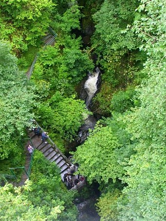 It's a long way down - the falls at Devil's Bridge