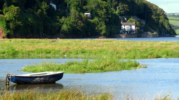 Looking across the estuary at Dylan's Boathouse