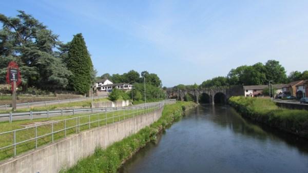 The Ebbw River at Bassaleg, Newport
