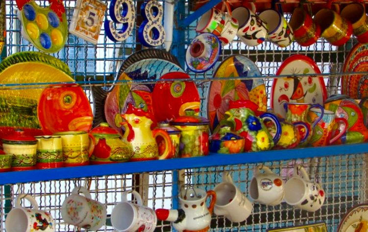Colourful painted crockery for sale in Alte