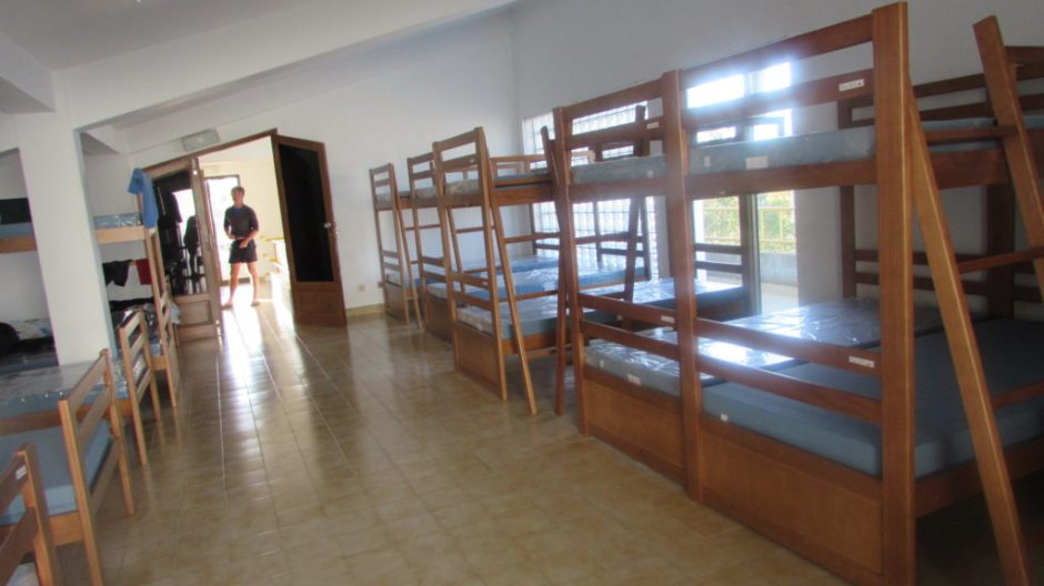 The hostel dormitory in Marmelete (we chose to kip on a landing instead!)