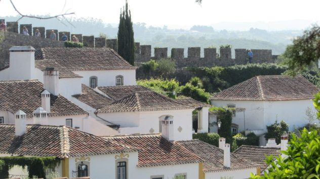 The medieval walled town of Obidos on the Silver Coast of Portugal