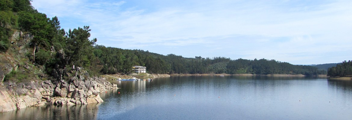 The reservoir created by the building of the Cabril dam on the Zêzere River near Pedrógão Grand