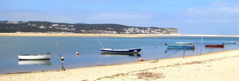Obidos lagoon from Figueira da Foz, Silver Coast, Portugal