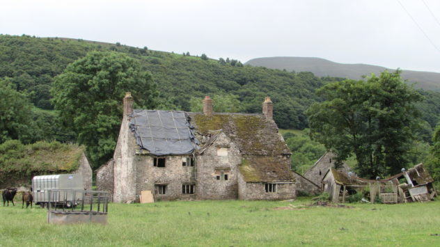 Old farmhouse, Grwyne Fawr valley, Black Mountains, Brecon Beacons National Park