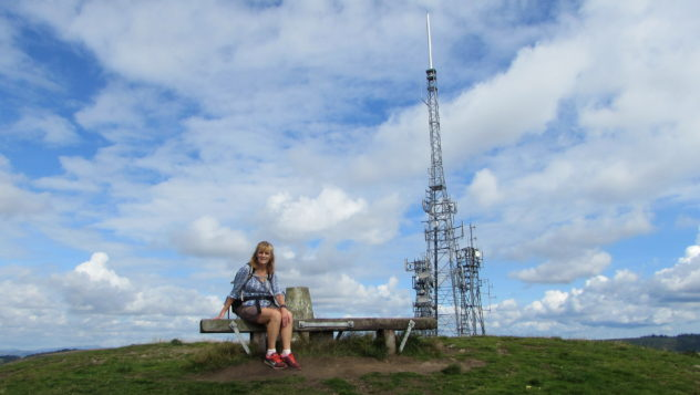 Mynydd Machen summit, Sirhowy Valley Walk, Caerphilly, Tracy Burton
