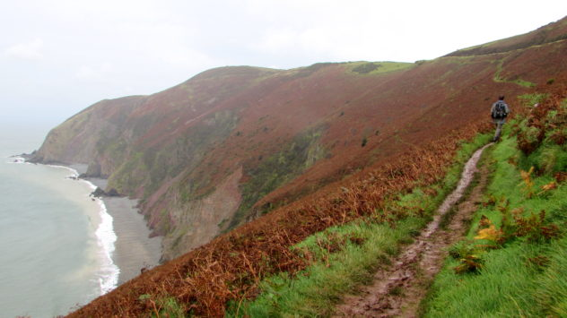 Coastline near Lynmouth, Exmoor National Park, Devon