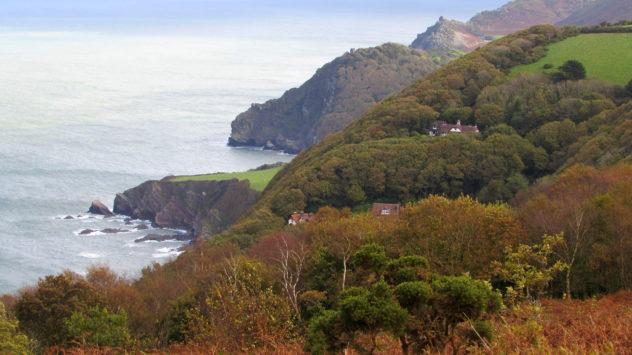 Devon coast near Lynmouth, Exmoor National Park