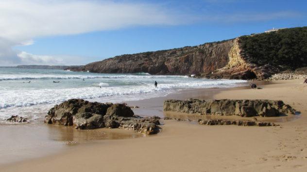 Coastal scenery, near Salema, Western Algarve, Portugal