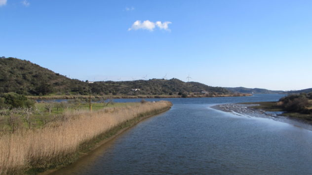The confluence of the Odeleite and Guadiana rivers