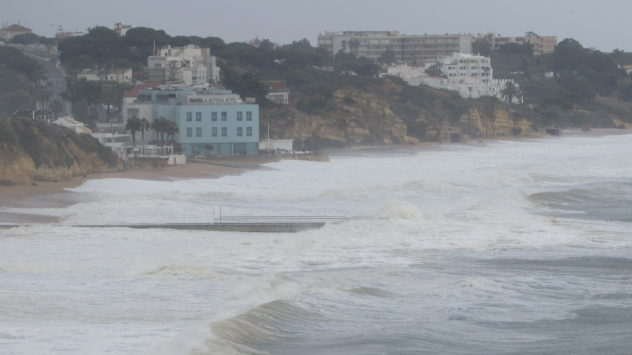 Storm Emma, Albufeira, Algarve, Portugal