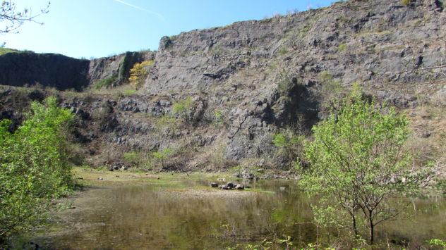 Disused quarry, Mynydd Machen, Caerphilly borough, South Wales