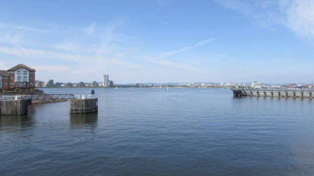 Cardiff Bay Barrage, South Wales, UK