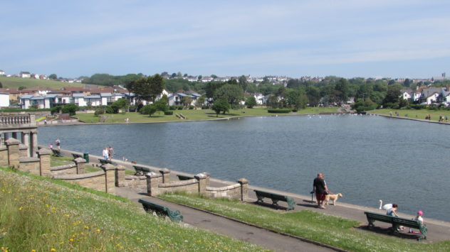 Knap lake, Barry, Vale of Glamorgan, South Wales