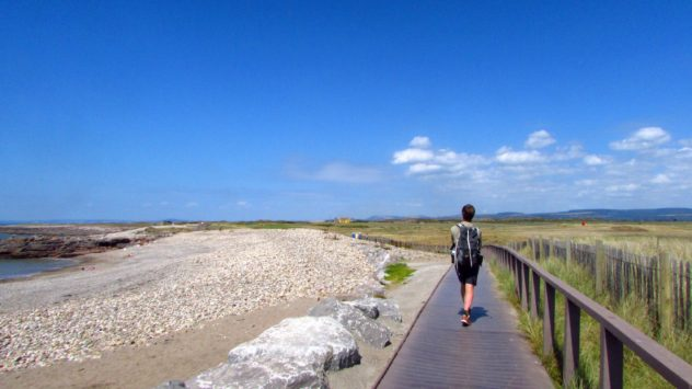 Heading to Kenfig Burrows along the Wales Coast Path