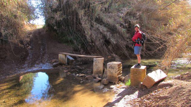 Quarteira stream, rural landscape, Olhos de Água, Algarve