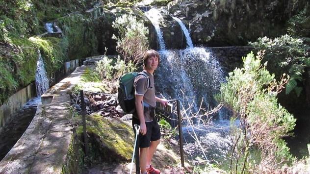 Levada waterfall, Madeira