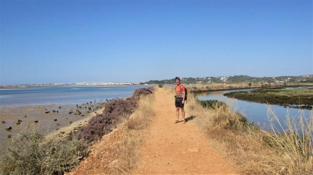 Dyke, PR1 A Rocha Delicada, Rio de Alvor, Western Algarve, Portugal