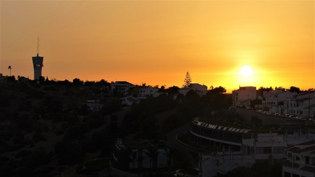 Pateo water tower, Albufeira at sunset