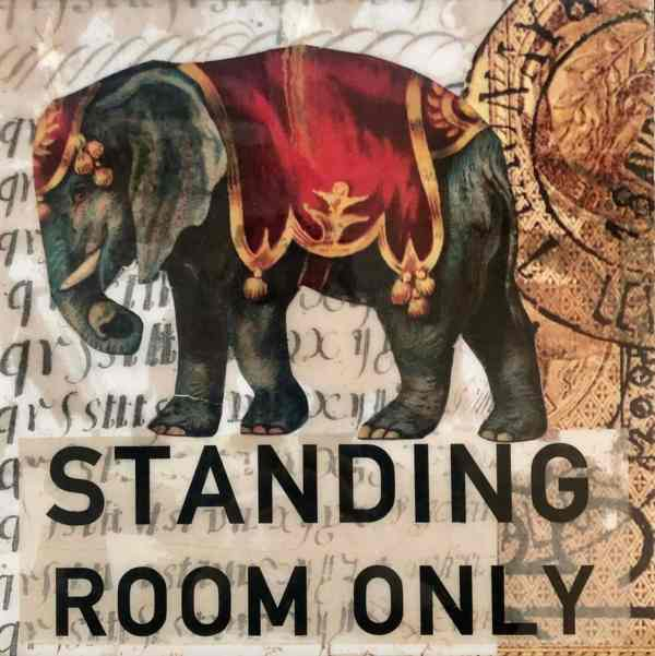 Standing Room ONly scaled Tracy Casagrande Clancy Encaustic Mixed Media