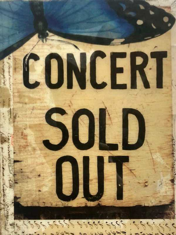 Concert Sold Out scaled Tracy Casagrande Clancy Encaustic Mixed Media