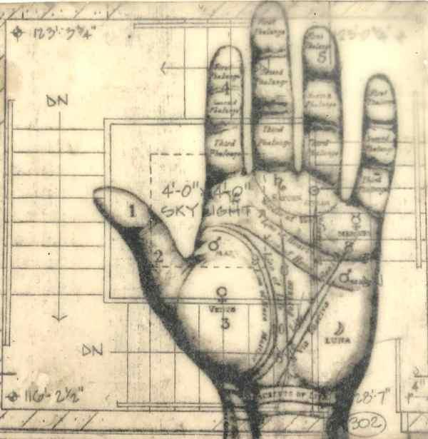Hand Signals Tracy Casagrande Clancy Encaustic Mixed Media