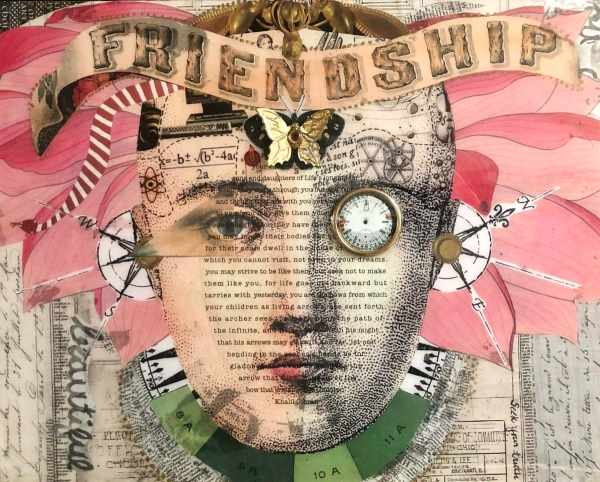 She Had Flowers On Her Mind set of 2 and The Essentials Flank scaled Tracy Casagrande Clancy Encaustic Mixed Media