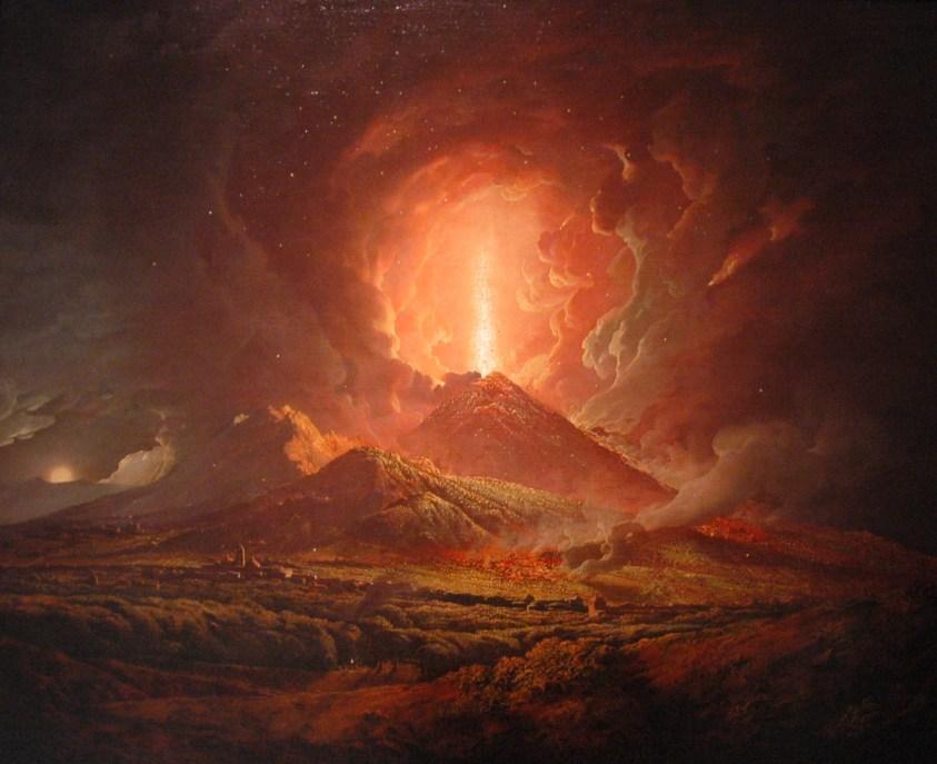 """""""Vesuvius from Portici"""" by Joseph Wright"""