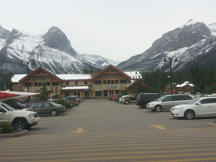 Canmore, in the Canadian Rockies, the location of the wedding.  It was the first time my mother has ever seen snow.