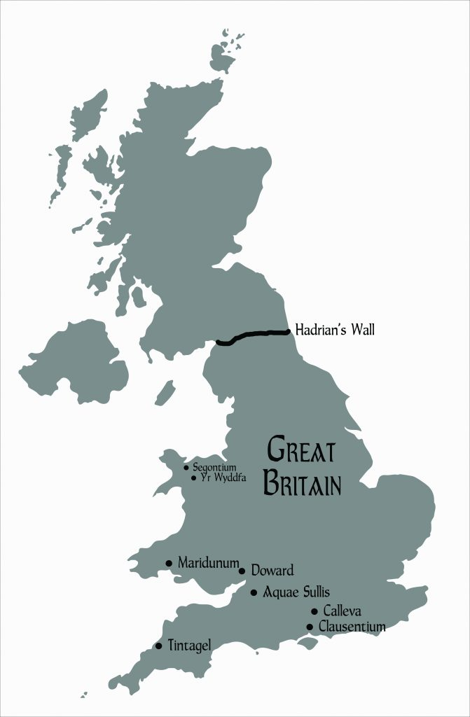 Map of Britain at the time of DRAGON KIN