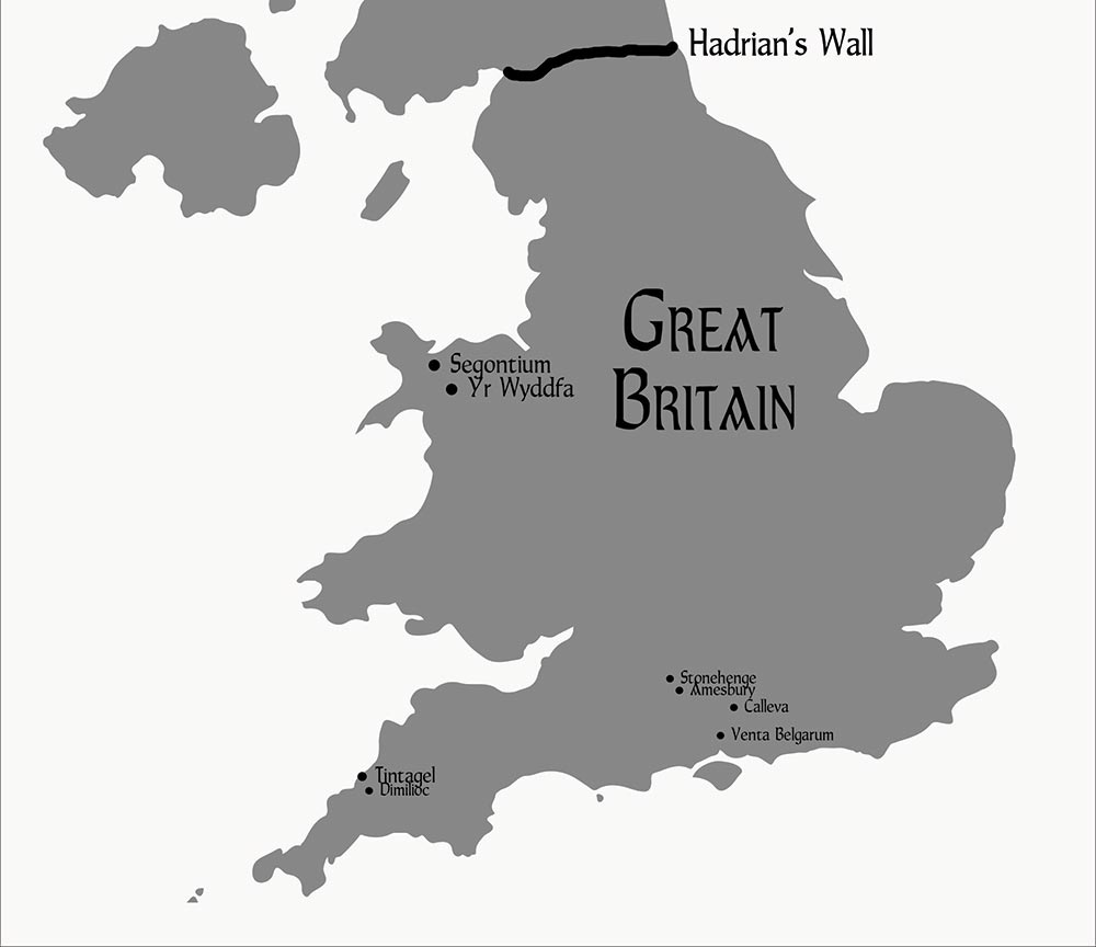 Map of Britain at the time of PENDRAGON RISES