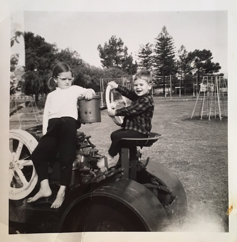 Tracy (and brother) at Allen Park, c. 1971