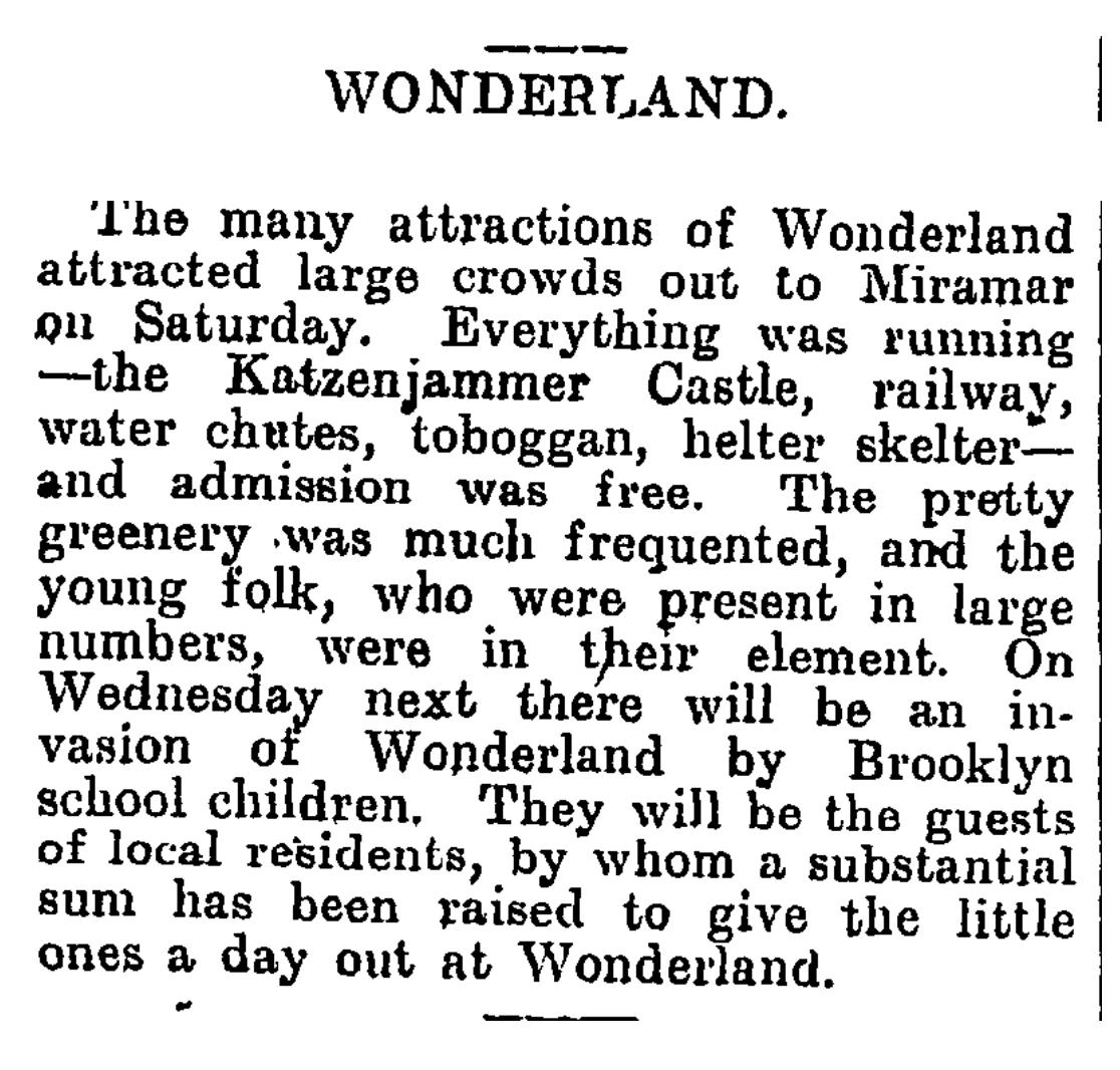 Wonderland, Evening Post 14 Feb 1910