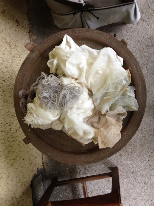 Fabric for the dyepot.